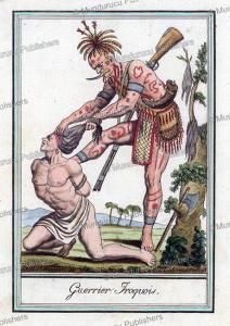 iroquois warrior, jacques grasset de saint-sauveur, 1795