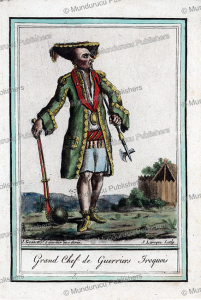 war chief of the iroquois, jacques grasset de saint-sauveur, 1795