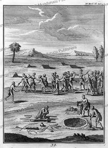 funeral ceremony of an iroquois indian, canada, joseph franc¸ois lafitau, 1751