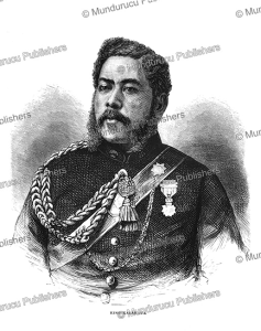 kala¯kaua (1836-1891), the last king of hawaii, charles nordhoff, 1874