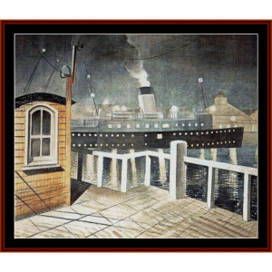 s.s. brighton - eric ravilious cross stitch pattern by cross stitch collectibles