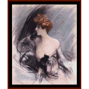 sarah bernhardt - boldini cross stitch pattern by cross stitch collectibles