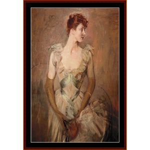la contessa di leusse - boldini cross stitch pattern by cross stitch collectibles