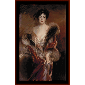 joefina de arruzuriz - boldini cross stitch pattern by cross stitch collectibles