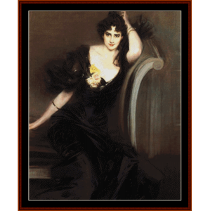 lady colin campbell - boldini cross stitch pattern by cross stitch collectibles