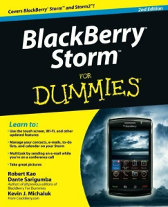BlackBerry Storm for Dummies | eBooks | Technical