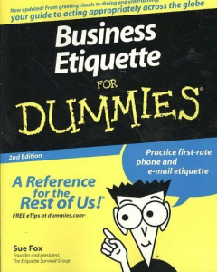 Business Etiquette for Dummies | eBooks | Business and Money