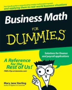 Business Math for Dummies | eBooks | Education