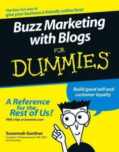 Buzz Marketing with Blogs for Dummies | eBooks | Business and Money