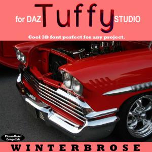 3d font - tuffy3d for daz studio