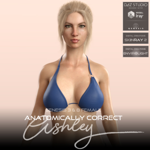 anatomically correct: ashley for genesis 3 and genesis 8 female