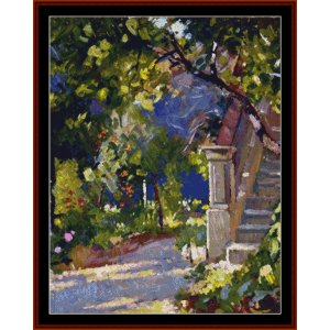 a quiet corner - patrick w. adam cross stitch pattern by cross stitch collectibles