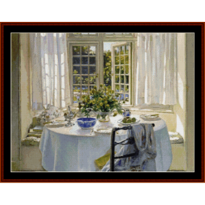 morning room - patrick w. adam cross stitch pattern by cross stitch collectibles