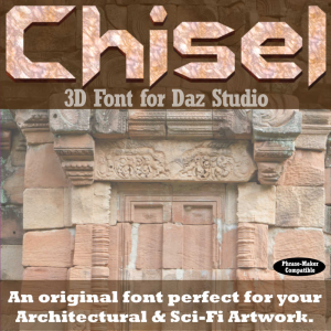 3d font - chisel3d for daz studio with word creation scripts