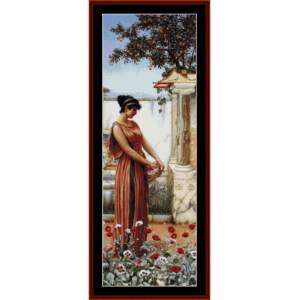 an idle hour - godward cross stitch pattern by cross stitch collectibles