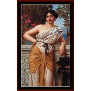Reverie, 1912 - Godward cross stitch pattern by Cross Stitch Collectibles | Crafting | Cross-Stitch | Other