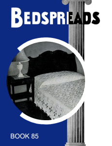 Bedspreads | Book No. 85 | The Spool Cotton Company DIGITALLY RESTORED PDF | Crafting | Crochet | Other