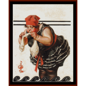 water wings - leyendecker cross stitch pattern by cross stitch collectibles