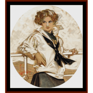 Anchor's Away - Leyendecker cross stitch pattern by Cross Stitch Collectibles | Crafting | Cross-Stitch | Other