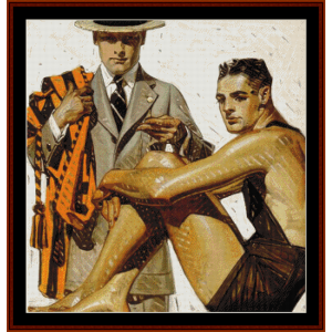 Kuppenheimer, 1910 - Leyendecker cross stitch pattern by Cross Stitch Collectibles | Crafting | Cross-Stitch | Other