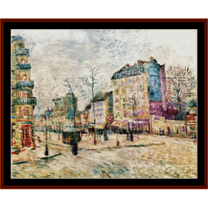 boulevard de clichy - van gogh cross stitch pattern by cross stitch collectibles