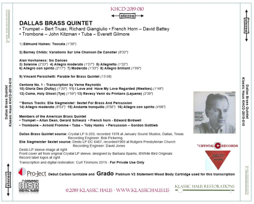 First Additional product image for - Dallas Brass Quintet