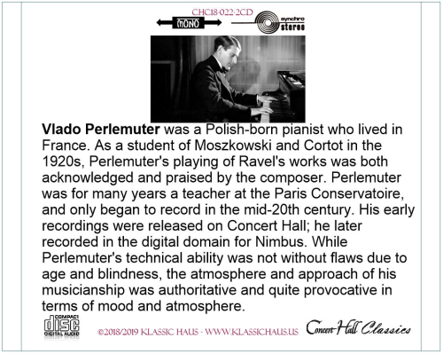 Third Additional product image for - Frédéric Chopin (1810-1846):  24 Preludes Op. 28 - Prelude No. 25 No. 45 (mono) - Waltzes (complete) (stereo) - Vlado Perlemuter, piano