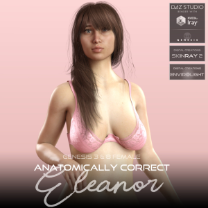 anatomically correct: eleanor for genesis 3 and genesis 8 female