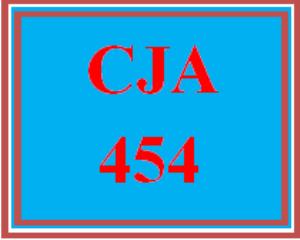 CJA 454 Entire Course Link   eBooks   Education