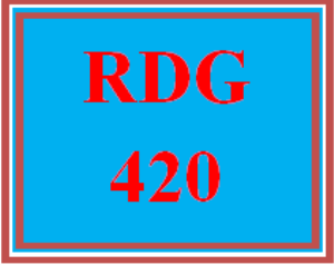 rdg 420 all discussions
