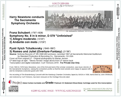 First Additional product image for - Harry Newstone conducts Schubert and Tchaikovsky