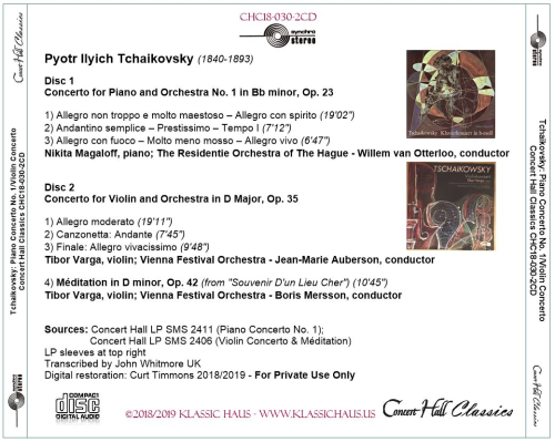 First Additional product image for - Tchaikovsky: Piano Concerto No. 1 - Magaloff/Violin Concerto - Varga