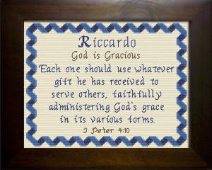 name blessings - riccardo