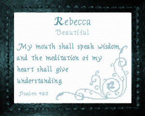name blessings - rebecca 2