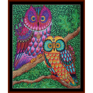 fantasy owls ii cross stitch pattern by cross stitch collectibles