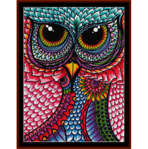 fantasy owl iii cross stitch pattern by cross stitch collectibles