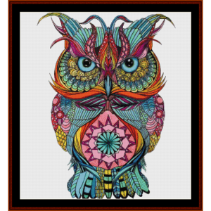 fantasy owl iv cross stitch pattern by cross stitch collectibles