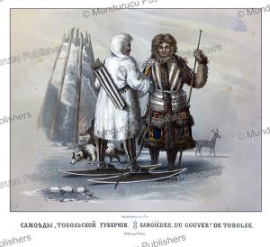 samoyeds from tobolsk, siberia, fr. knorre, 1850