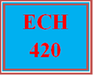 ECH 420 Wk 4 Discussion - Assessment | eBooks | Computers