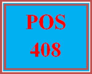 POS 408 Week 2 Individual: Adding Variables | eBooks | Education