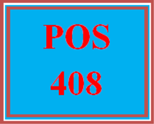 POS 408 Week 4 Individual: Error Handling | eBooks | Education