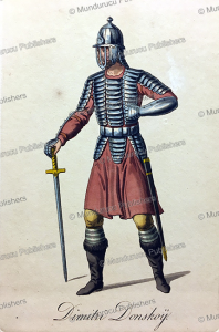 dimitri donskoy¨ (1350-1389) in arms, prince of moscow, russia, 19th century