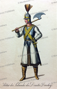 soldier of dimitri donskoy¨ (1350-1389), prince of moscow, russia, 19th century
