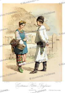 russian man and woman, m. klodt, 1867