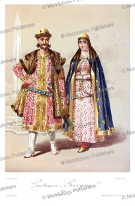 the dress of georgian people, m. klodt, 1867