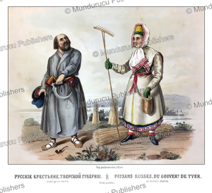 russians from tver in russia, fr. knorre, 1850