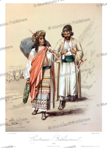 man and woman from bohemia (czech), m. klodt, 1867