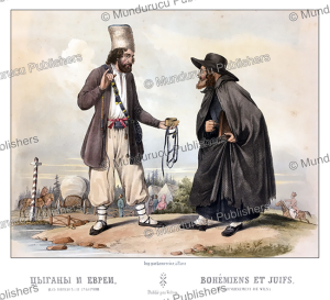 a bohemian (czech) and a jew, m. klodt, 1867