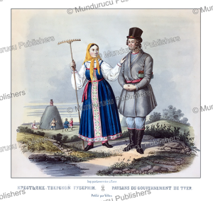 farmers from tver, russia, fr. knorre, 1850