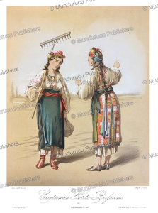 russian women, m. klodt, 1867